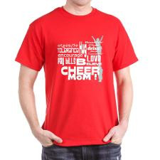 Cheer Mom Words Dark T-Shirt for