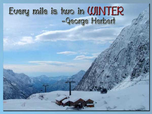 Popular Winter Quotes and Sayings