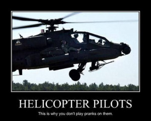 Never prank helicopter pilots