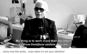 Karl Lagerfeld+intention