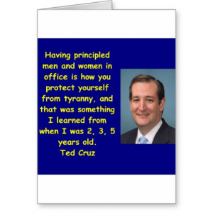 Ted Cruz quote Greeting Card