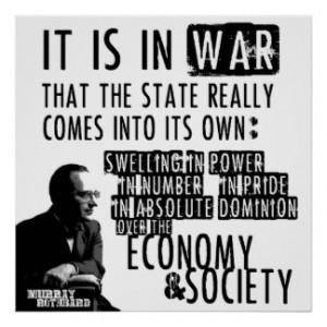 Murray Rothbard Anti-War Anti-State Libertarian Print