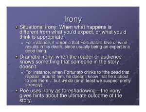 ... irony situational dramatic verbal example lessons poems dramatic