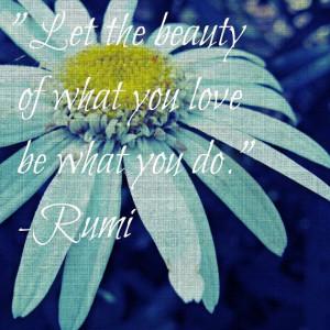 ... - Inspirational Quote Flower Print - Rumi - Daisy - 12x12