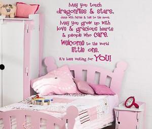 ... dragonflies & stars wall art sticker quote Childrens bedroom -112