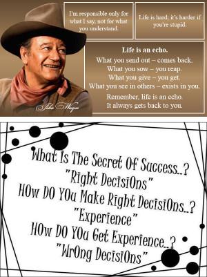 John Wayne Quotes and Extra