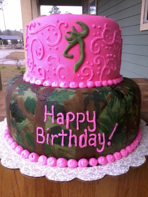 camo cake handpainted camo and hot pink used mm fondant and added ...