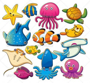 Sea Animal Pictures Animal Pictures for Kids with Captions to Color ...