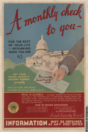 The Social Security retirement pension system was part of President ...