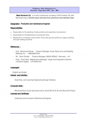 Production planning engineer resume