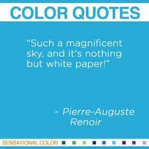 ... sky, and it's nothing but white paper!