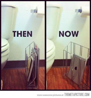 Funny photos funny bathroom magazines iPad