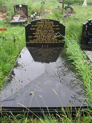 Williams' headstone at Milltown Cemetery (?) [ citation needed ] after ...