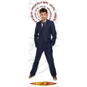 Doctor Who TV Show Door Poster (David Tennant / The Doctor Facts