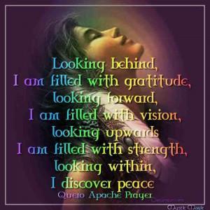 Gratitude, Vision, Strength & Peace