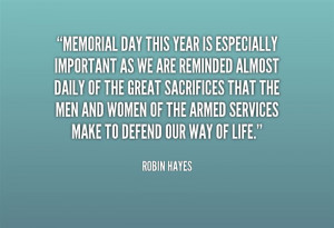 Memorial Day This Year Is Especially Important As We Are Reminded ...