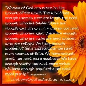Women Of God..