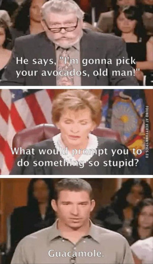 funny picture guacamole at judge judy