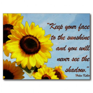 Sunflower Life Quotes Helen keller quote with