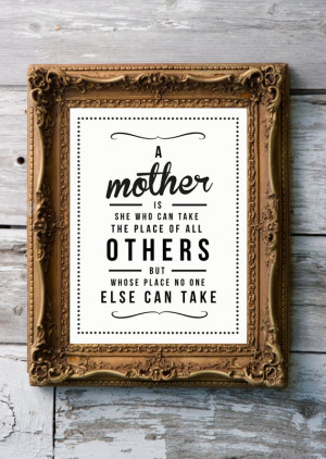 ... Quote Giclee Art Print - Vintage Typography Decor - Customize - Mother