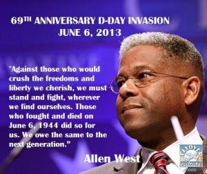 Allen West: D-Day anniversary