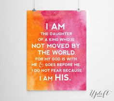 The Daughter Of A King - Christian Quotes 8 x 10 by Uplift Prints ...