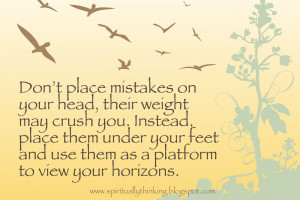Learning From Your Mistakes Quotes