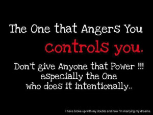 Don't let anger control you