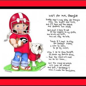 Georgia Bulldogs collegiate art print Wait for Me football matted