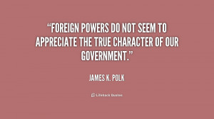 James K Polk Quote