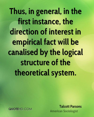 general, in the first instance, the direction of interest in empirical ...