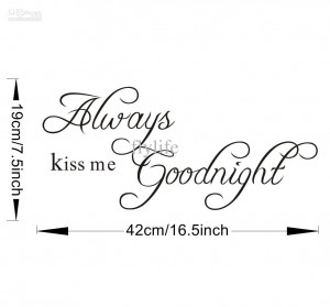 Good Night Minions Quotes Always kiss me goodnight-vinyl wall ...