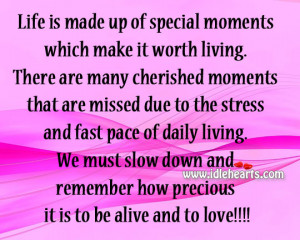 Life Made Special Moments Wisdom Quotes And Stories