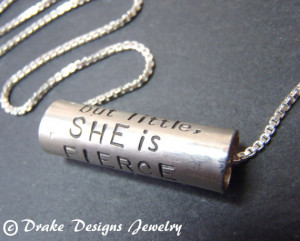 Inspirational Necklaces Shakespeare quote Necklace She is Fierce ...