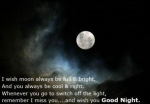 ... always be full brightand you always be cool right good night quote