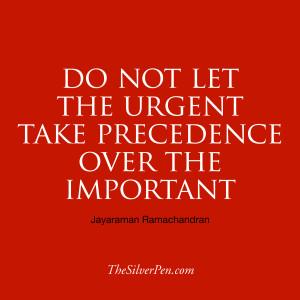 Focus on What's Important – Ramachandran