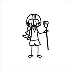 lacrosse quotes for girls | Lacrosse Girl stick figure. lacrosse ...