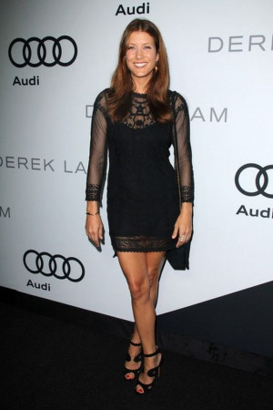 Kate Walsh wore the black embrodeered cotto-mesh dress from Praisian ...