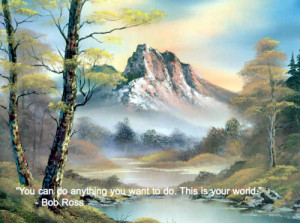 ... funny bob ross painting quote funny captions bob ross date you