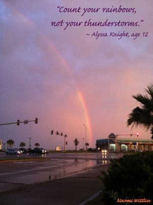 Rainbows And Sunshine Quote Photo originally published in