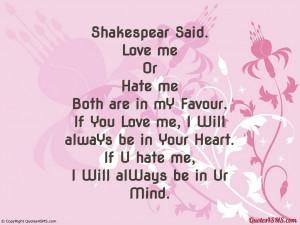 If U hate me, I Will alWays be in Ur Mind...