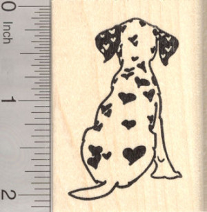 Item: H-26702 Valentine's Day Dalmatian Rubber Stamp, Dog with Heart ...
