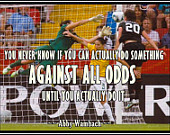 Soccer Poster Abby Wambach Olympic Soccer Photo Quote Wall Art Mini ...