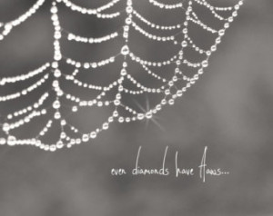 ... Quote Imperfect Flawed Black and White Spiderweb Sparkle Love Yourself