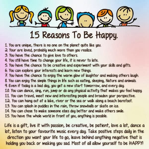 reasons to be happy of reasons to be happy stop looking for reasons to ...