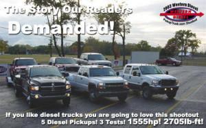 2003 Western Diesel PickupTruck.com Diesel Shootout, Part 1 of 3