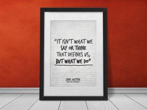 Jane Austen Quote printable print art Sense by InspirationalQuote, $5 ...