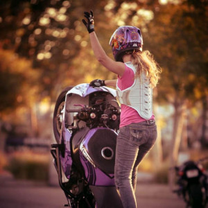 Leah Petersen Is A Girl Who Loves To Wheelie