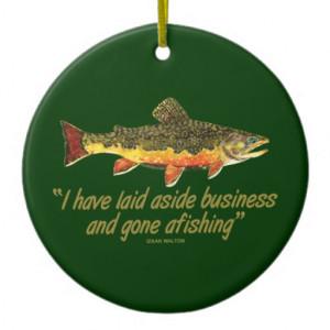 Izaak Walton Fishing Quote Christmas Ornament