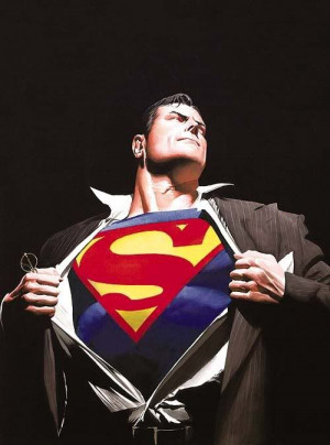 ... blazer, loosen up the tie, step inside the booth, superman is alive